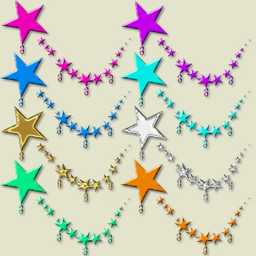 500x500 Stars Charm Holders